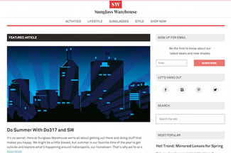 Sunglasswarehouse wordpress blog