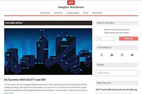 Sunglasswarehouse Blog